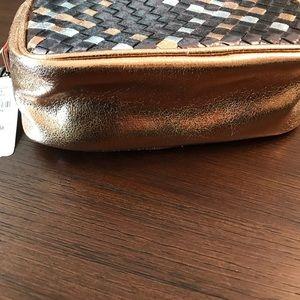 Neiman Marcus Bags - BNWT Neiman Marcus Metallic Weave Crossbody Bag